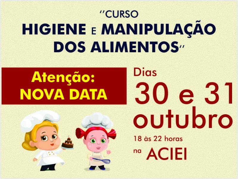CURSO 'HIGIENE E MANIPULAÇÃO DOS ALIMENTOS' TEM NOVA DATA
