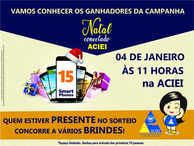 SORTEIO DA CAMPANHA NATAL CONECTADO ACONTECE NESTE SÁBADO