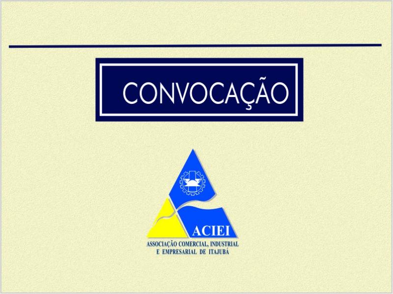 CONVOCAÇÃO DE ASSEMBLEIA GERAL ORDINÁRIA