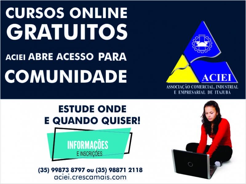 ACIEI ABRE ACESSO DE CURSOS ONLINE GRATUITOS PARA A COMUNIDADE